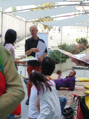 O organizador do evento Stijn Callewaert do Bib -NE